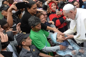 pope with sick child
