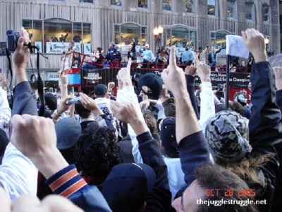 Participating in the World Series 2005 Championship Celebration