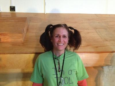 since she is donating her hair, it needs to be in ponytails